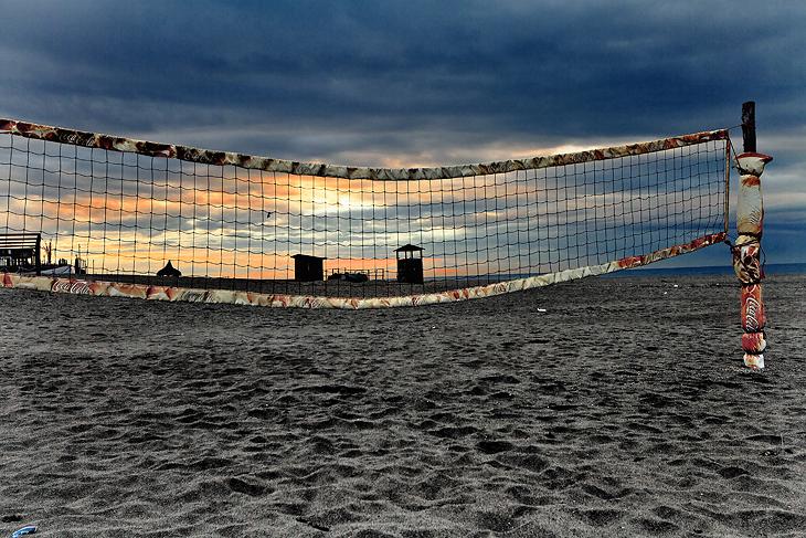 Playing field sunrise